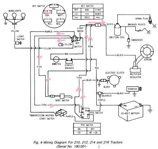 Wiring Diagram For Lx176 Lawn Mower