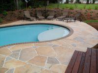 Concrete Pool Deck Ideas   concrete flagstone simulation ...