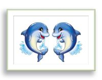 Dolphin Wall Art Ocean Theme Nursery Wall Decor Children
