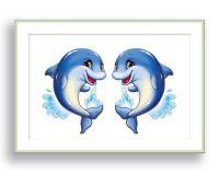 Dolphin Wall Art Ocean Theme Nursery Wall Decor Children ...