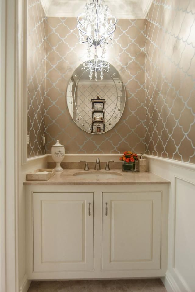 16 Glamorous Bathrooms With Wallpaper