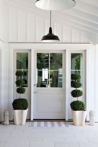 Board and batten door design entry beach style with ...
