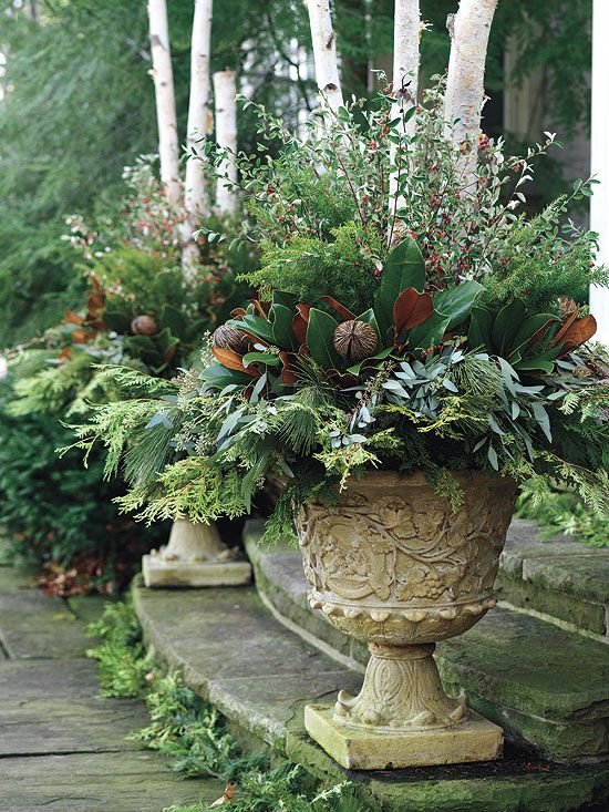Gorgeous Planters For The Winter I'm Definitely Gathering Up
