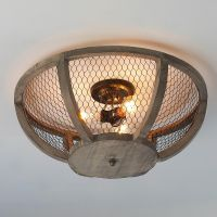 Chicken Wire Basket Ceiling Light Small | Wire baskets ...