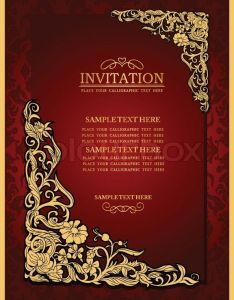 Stock Vector Of Abstract Background With Antique Luxury Red Vintage Frame Victorian Banner Also Brown Color