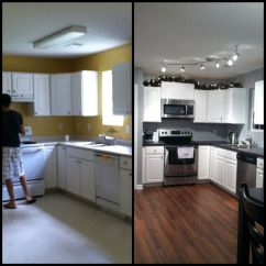 Inexpensive Kitchen Cabinet Makeovers Used Cabinets Chicago Small Remodel Before And After On Pinterest ...
