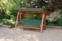 Quality Wooden Swing Bed 3 Seater Garden Swing Seat With ...