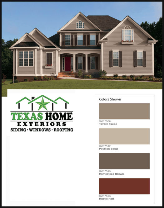 Sherwin Williams Exterior House Color Sw 7508 Tavern Taupe 7512 Pavillion Beige