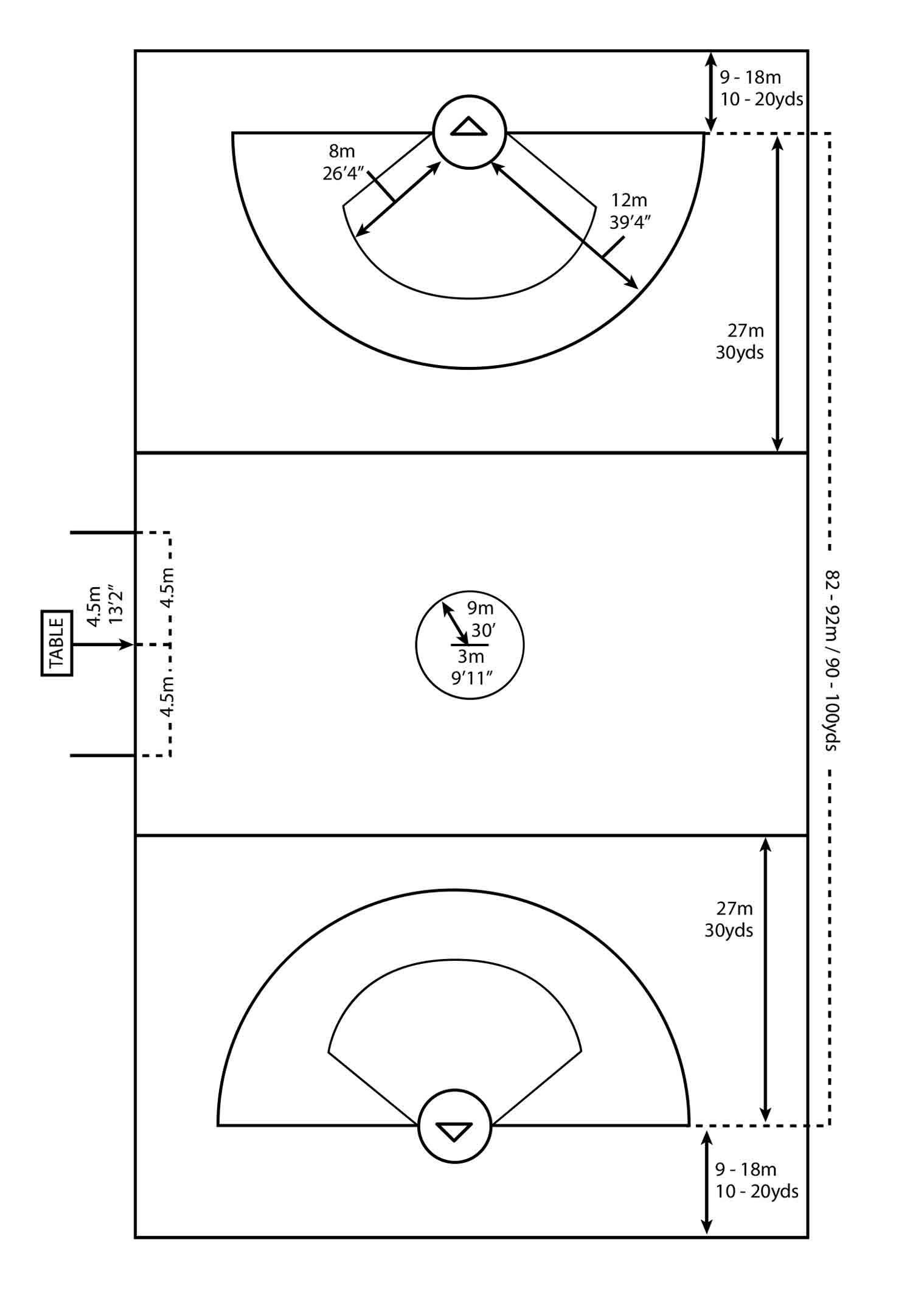 Womens Girls Official Lacrosse Field Diagram