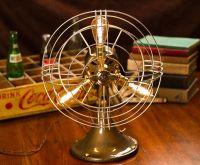 Vintage Fan Lamp, Edison Lamp, Steampunk Lamp, Repurposed ...