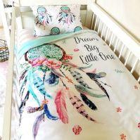 Cot Quilt ~ Dream Catcher cotton nursery linen baby ...