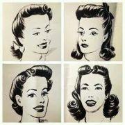 pin hair pinup glamour