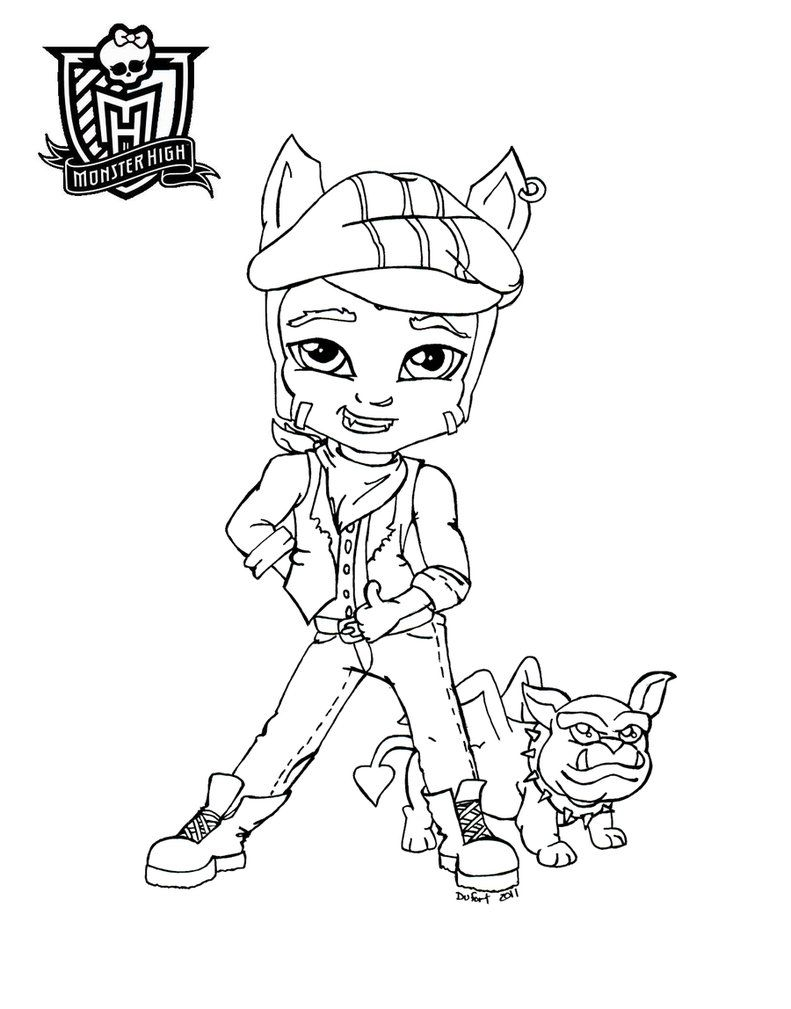 Baby Clawd printable coloring sheet from JadeDragonne at