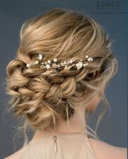 beautiful loose braided updos bridal