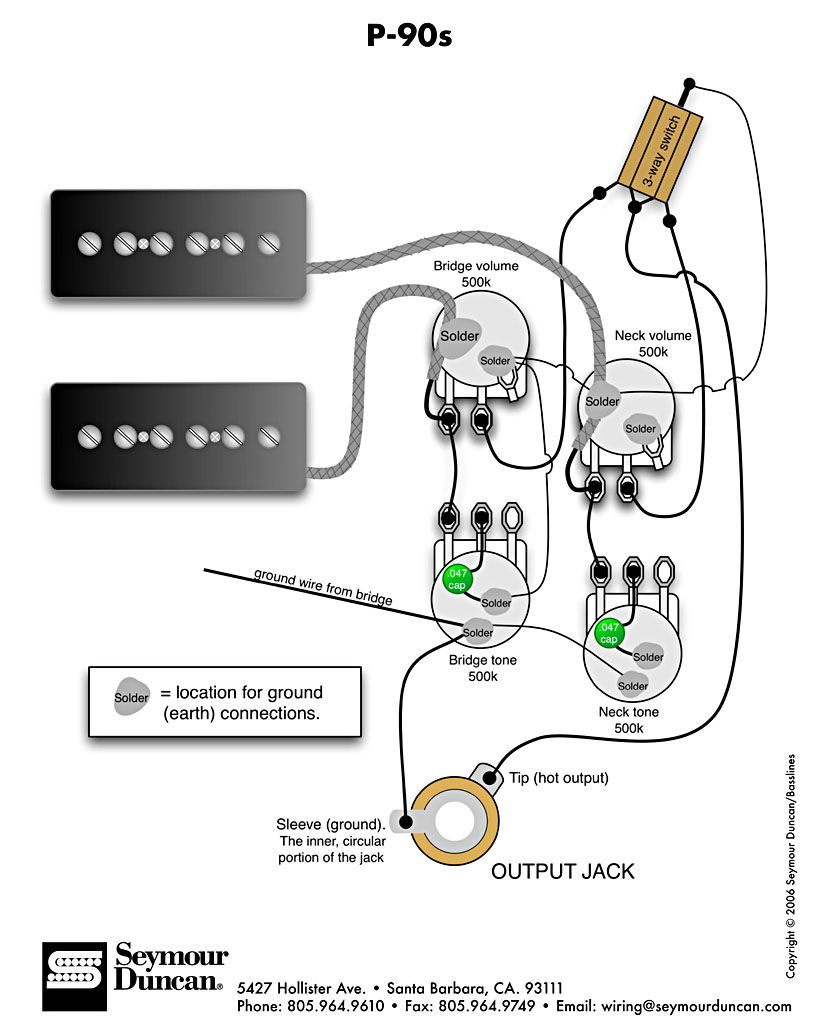P90 Electric Guitar Wiring Diagrams Auto Electrical Diagram 12 Volt Horn Fiamm Product