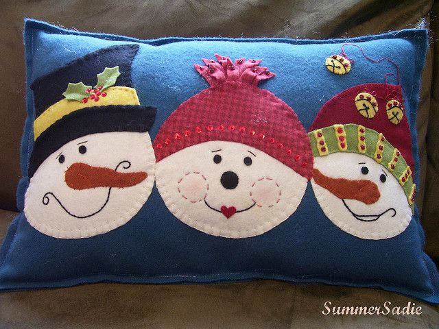 Snowmen Pillow  Christmas  Pinterest  Inspiration