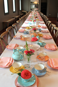 High tea table setting for a ladies event. | Afternoon Tea ...