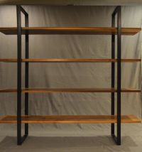 floating-walnut-and-steel-bookcase-combination-with-wooden ...