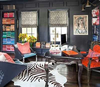 011314 Kourtney Kardashian Home Office Workspace Color Coded