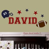 Football Wall Decal - Football Decal - Sports Decal - Kids ...