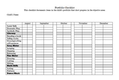 Preschool+Portfolio+Checklist+from+Kid+at+Heart+on