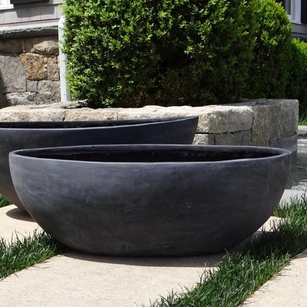 Small Smooth Oval Bowl Planter