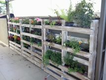 Pallets Wall Planter In Garden Pallet Ideas