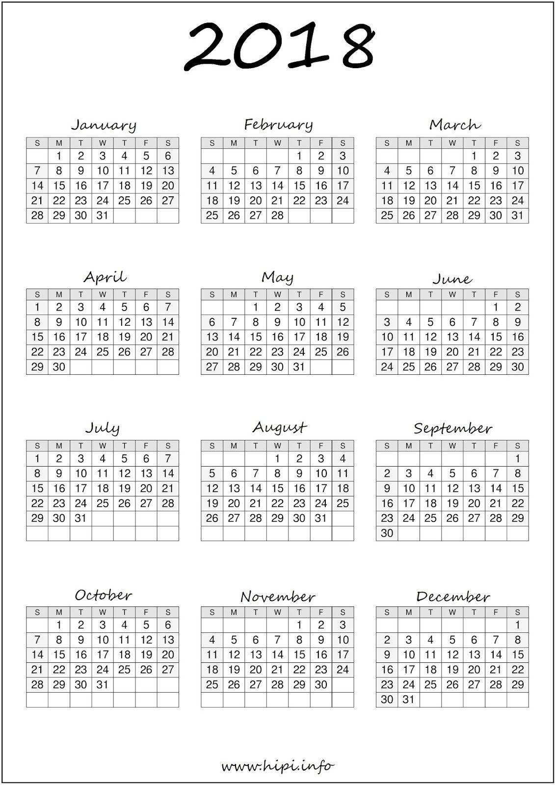 Calendar Printable Free 014