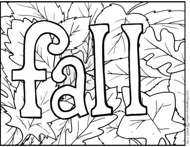4 {Free Printable} Fall Coloring Pages | Activities, Leaves and ...