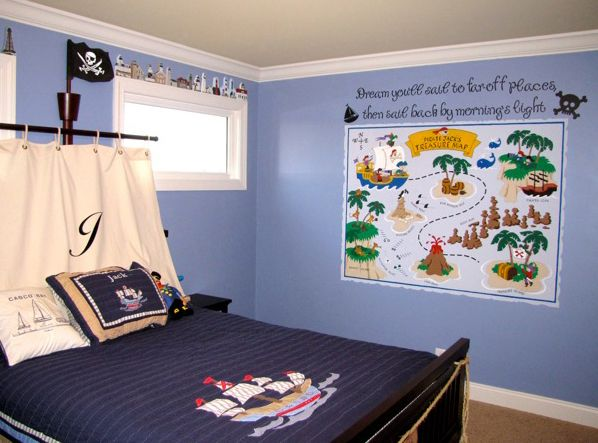 Pirate pete   treasure map lg wall mural bedroom decorbedroom also pirates bedspread and rh pinterest