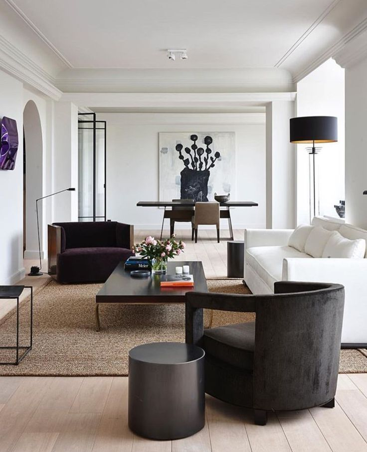 Rugs  home decor netraul living romo that includes white sofa paired with dark also rh pinterest