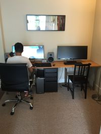 The modern couple Two person desk that fits two ultra wide ...