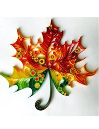 Maple Leaf - Unique Paper Quilled Wall Art for Home Decor ...