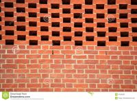 brick-wall-pattern-red-bricks-newly-constructed-building ...