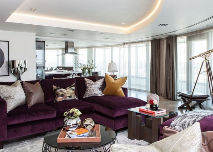 How to match  purple sofa your living room  cor also