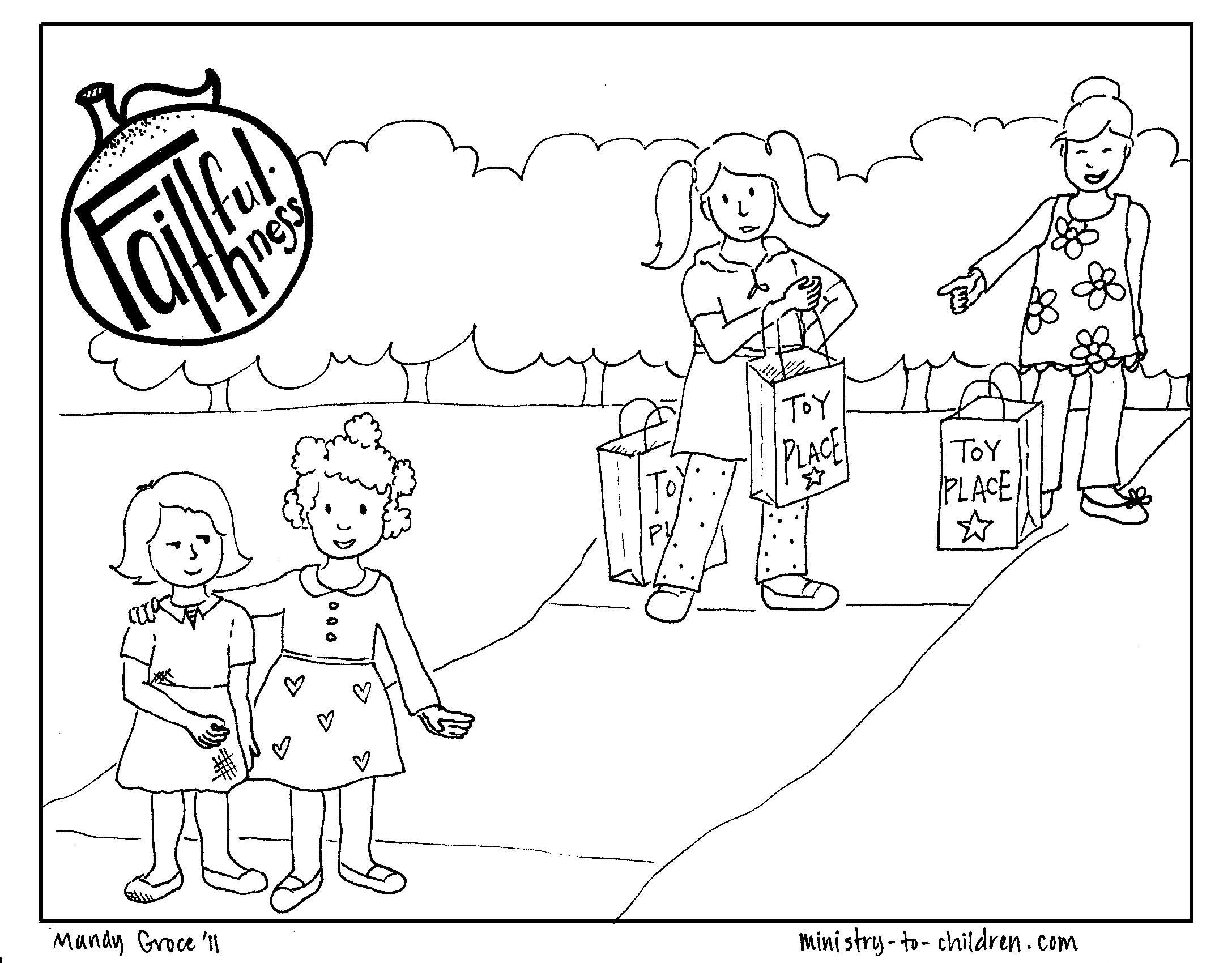 Sunday School Coloring Pages Fruit Of The Spirit