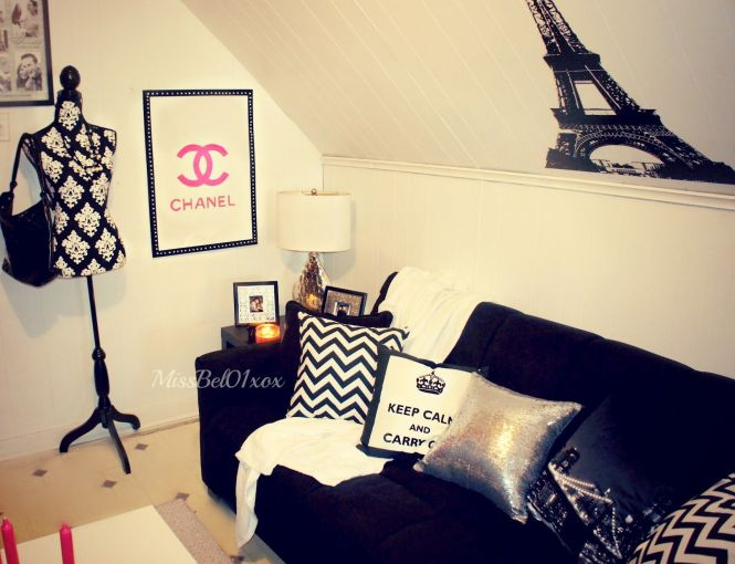 Chanel Themed Bedroom To Know Where I Bough My Decorations In