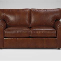72 Lancaster Leather Sofa Fake Repair Serta Rta Monaco Collection Inch Brown