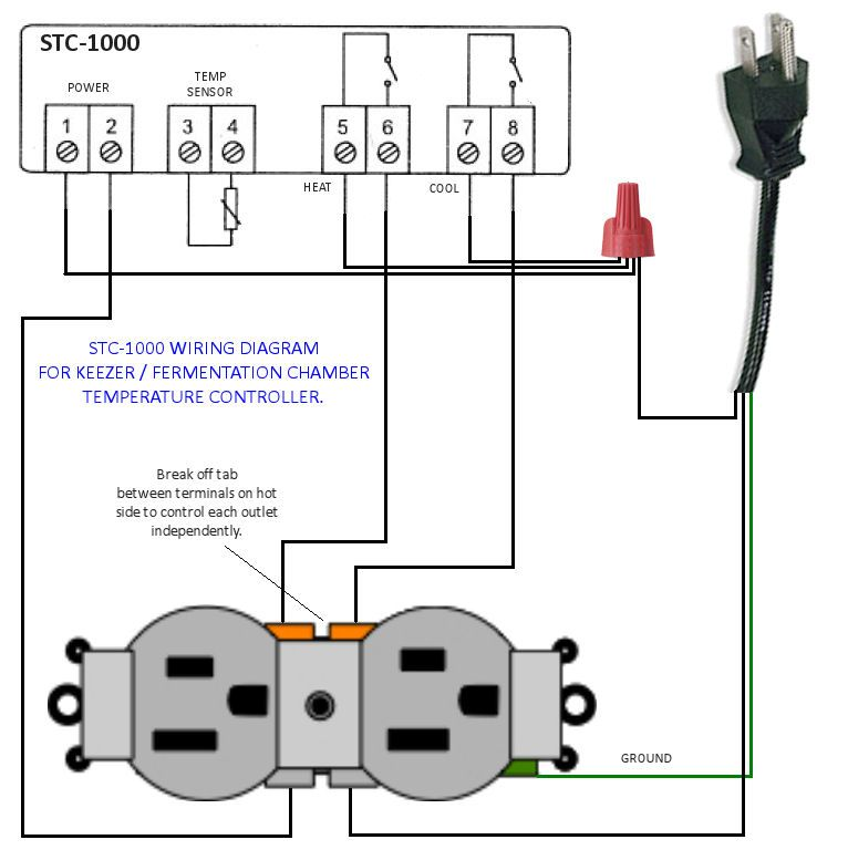 STC 1000 Temp Controller Wiring Diagram Homebrewing Pinterest