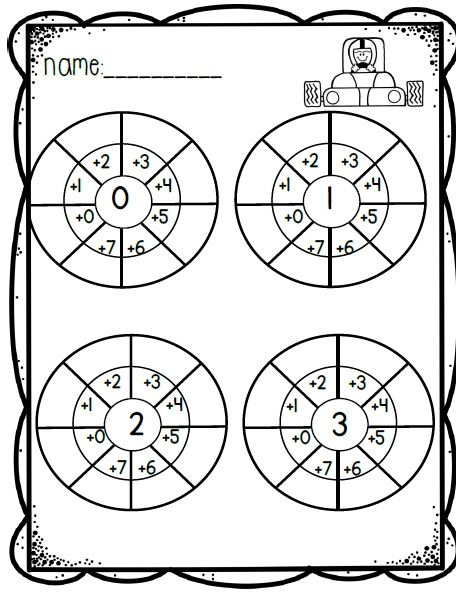 Addition wheels! A fun and engaging way to practice TONS