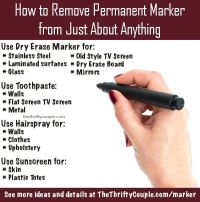 How to Remove Permanent Marker From Just About Anything ...