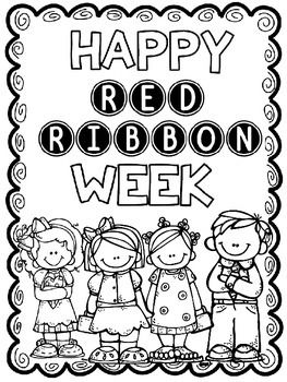 Great Writing and Coloring Activities for Red Ribbon Week
