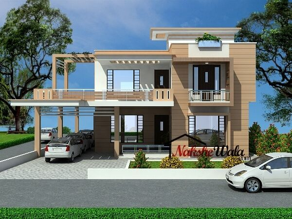 99124BHK Duplex House Design NEWS House Elevation Indian