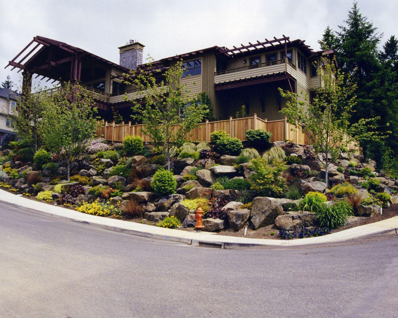 Landscape Design For Sloped Yards Landscape Maintenance Service