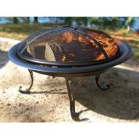 "26"" Steel Wood Burning Folding Firebowl - Round ..."