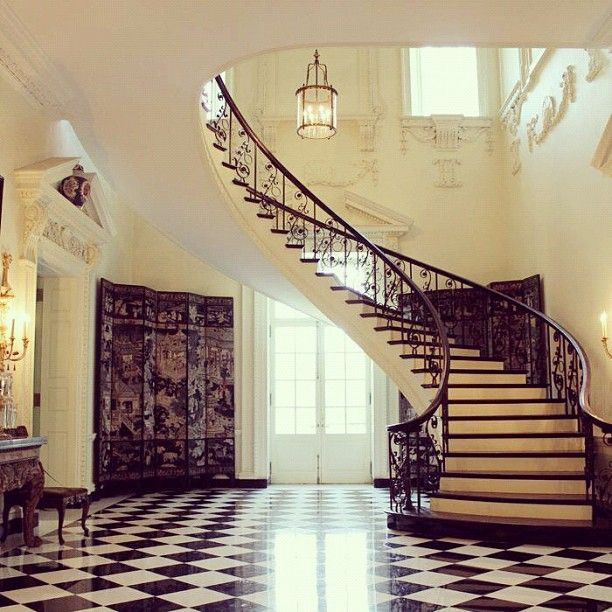 Staircase At Atlanta Swan House Via Atlanta History Center Arch
