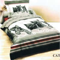 100% cotton cute cuddly cats duvet cover set choice of ...