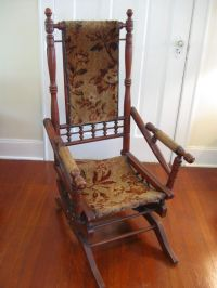 Antique Victorian Era Eastlake Platform Spring Rocking ...
