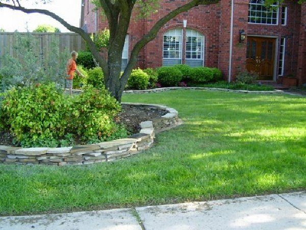 Flower Beds Stone Edging Ideas Garden Design Lawn Curbs Stone