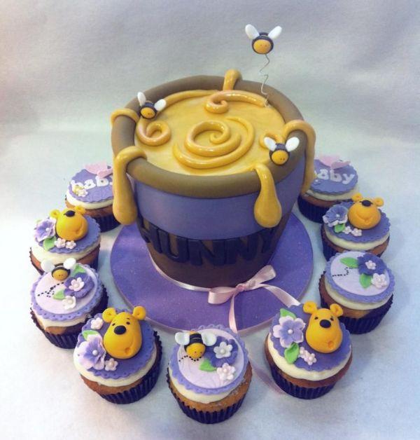 Winnie Pooh And Honey Cake & Cupcakes Love